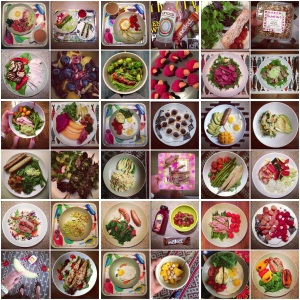A month of eating paleo. Just some of the meals I wolfed down.